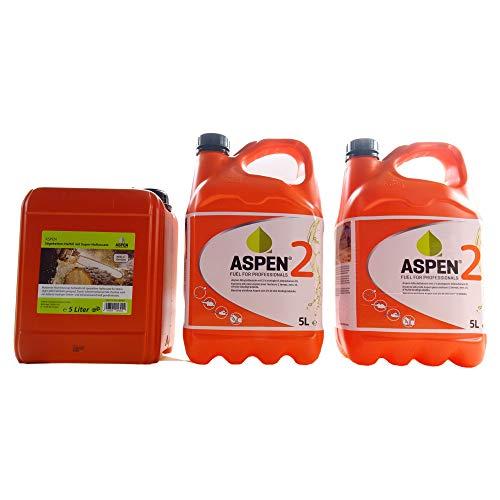 Aspen 10L 2-Takt Alkylatbenzin mit 5L Kettenöl