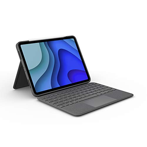Logitech Folio Touch iPad Hülle Tastatur, Trackpad & Smart Connector für 11 Zoll iPad Pro (Modell: A1980, A2013, A1934, A1979, A2228, A2068, A2230, A2231) Deutsches QWERTZ Layout - Grafit