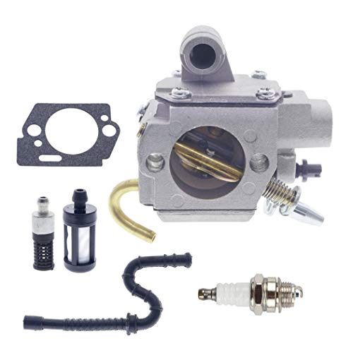 Chainsaw Carburetor Kit for Stihl MS270 MS280 MS 270C 280C with Spark Plug Fuel Line Kit