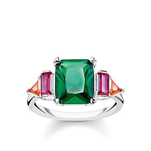 Thomas Sabo Damen-Ring Farbige Steine silber 925 Sterlingsilber TR2262-477-7-56