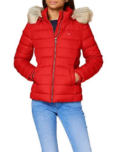 Tommy Jeans Tjw Basic Hooded Down Jacket - Doudoune à capuche - Femme - Pourpre profond. - XS