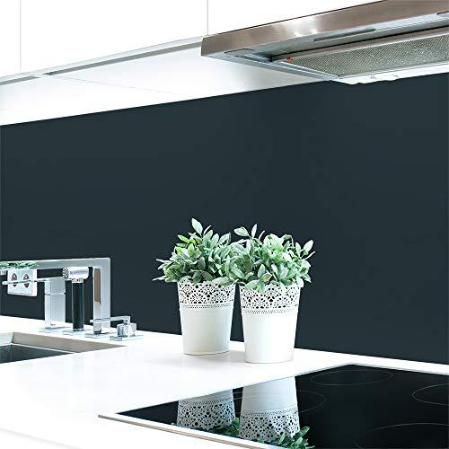Küchenrückwand Grautöne Unifarben Premium Hart-PVC 0,4 mm selbstklebend - Direkt auf die Fliesen, Größe:120 x 60 cm, Ral-Farben:Anthrazitgrau ~ RAL 7016