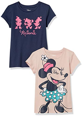 Amazon Essentials Disney Star Wars Marvel Princess Short-Sleeve T-Shirts Camiseta, Paquete de 2 Forever Minnie, 10 años