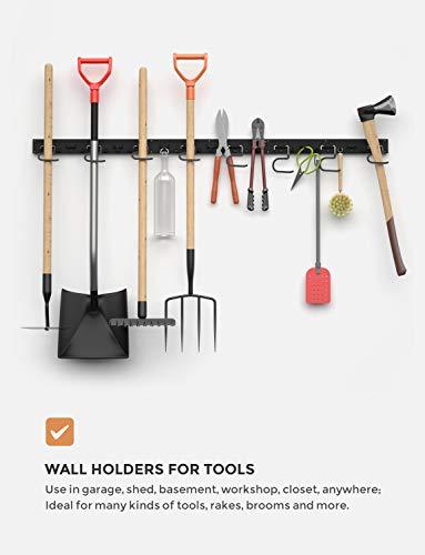 INCLY Garage Storage System48 Inch, Wall Hooks and Hanger, Garden Organizer,Tool Holder Wall Mount for Garden Garage