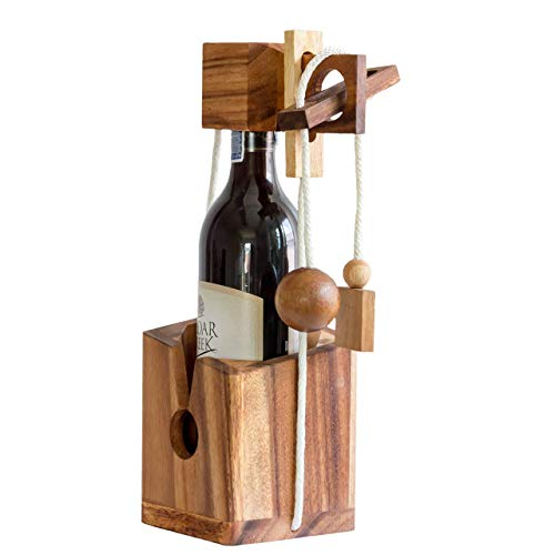 Gifts Wine Bottle Puzzles Drinking Games for Adults Party Brain Teaser Hard Puzzle Board Games for Adults Box Lover Funny Fit Wine Game Gadgets 3D (Wine Bottle Puzzle)