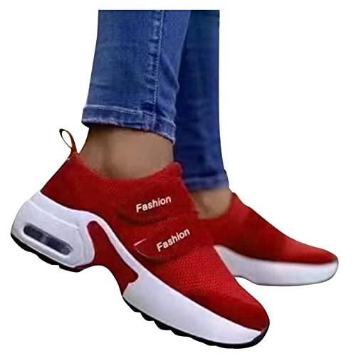 Beudylihy Zapatillas de mujer con un solo paso, ligeras, para exteriores, para caminar, informales, transpirables, con plataforma, color, talla 37 EU