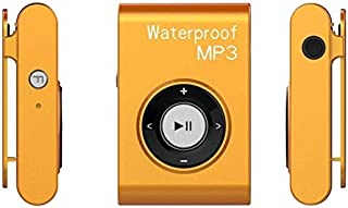 WZY IPX8 Waterproof Swimming Diving Sports MP3 Music Player with Clip & Earphone, Support FM, Memory:4GB(White) (Color : O...