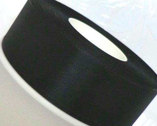 SCHLEIFENBAND Geschenkband DEKOBAND 50m x 40mm SCHWARZ Trauerband Taftband