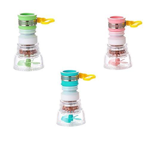 mkkk Faucet Extender,Faucet Water Filters,Flexible tap Nozzle Splash-Proof FaucetKitchenSinkWaterFilterfaucet3pcs
