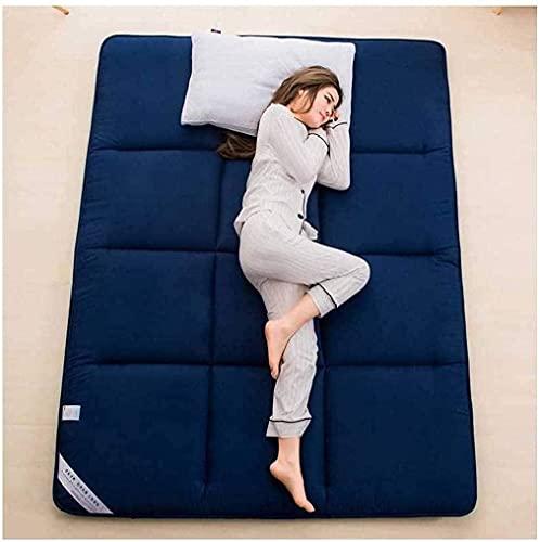 FENGFENG Colchón de futón, colchón de futón japonés,tapete de Tatami Enrollable Plegable, Almohadilla de colchón para Cama de Invitados, Almohadilla para Dormir portátil, Ahorra Espacio para Acampar