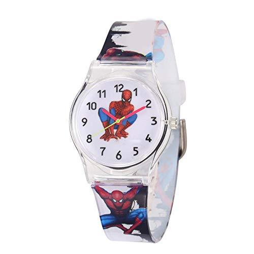 Montre Enfant SFBBBO Les Enfants regardent décontracté Transparent Enfants Montre Jelly Montre garçons Montres-Bracelets Horloge Spiderman