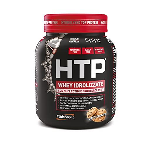 EthicSport - HTP - HYDROLYSED TOP PROTEIN - Barattolo da 750 g - Gusto: Cookies - Integratore alimentare di proteine del siero del latte isolate e idrolizzate, con nucleotidi e ProHydrolase
