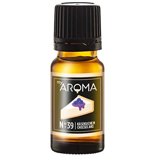 myAROMA | No. 39 (Käsekuchen, 10 ml) | Rein natürliches Aroma | Geschmackstropfen zum Kochen, Backen & Mixen | Zuckerfrei & ohne Süßung