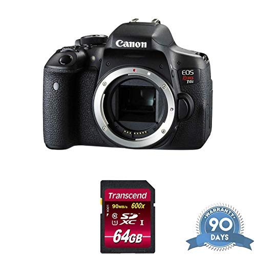Canon EOS Rebel 750d DSLR Camera (Body Only) with Memory Card - (Renewed) Kit
