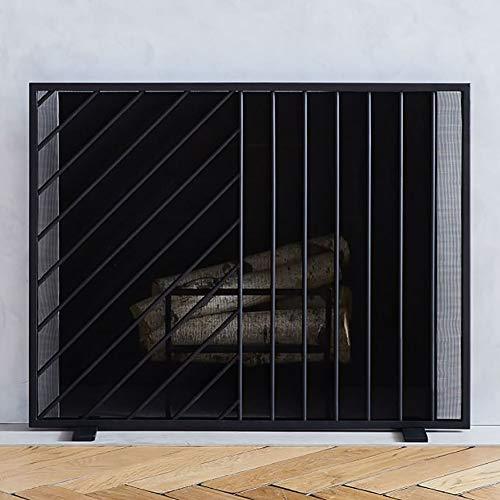 Lowest Price! Fireplace Screens YXX- Baby Safe Flat, Fire Place Screen for Open Fireplace, Single Pa...