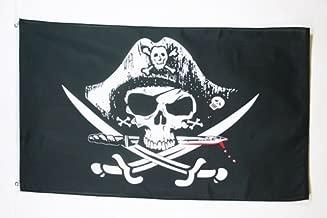 Fahne Banner 150cm X 90cm 5ft X 0,9 M Karibischer Pirat Totenkopf