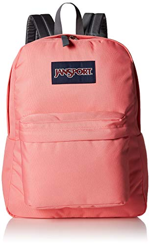 Jansport SuperBreak Backpack - Lightweight School Pack, Strawberry Pink