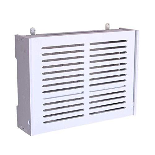 Geyao Caja de almacenamiento inalámbrica para enrutador de pared, creativo, multimedia, caja de conexiones, decoración