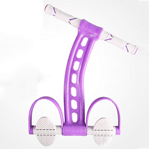 Zylxnt Rallye Home Yoga Fitness Volumen Bauch hohe Elastizität Seil Pedal Zuggürtel Bauchmuskel Trainingsgerät (Color : Purple)