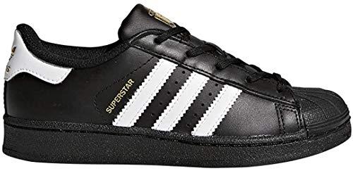 Adidas Originals Superstar Jungen Sneaker, Schwarz - Core Black White Core Schwarz - Größe: 4 Big Kid