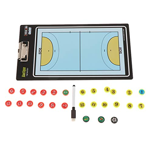 B Blesiya Fussball Basketball Coaching Board Strategie Board Handball mit Magnetische Zwischenablage - Volleyball
