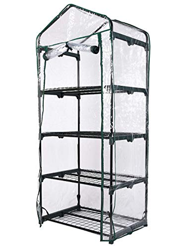 Faura 4 ESTANTES. (160x69x49 cm.) - Invernadero Balcón | Varias Medidas Seleccionela | Invernadero para Hogar