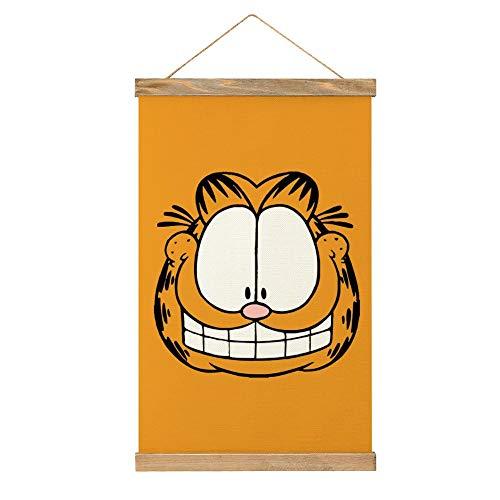WPQL Garfield (4) carteles decorativos cocina, oficina, dormitorio hotel