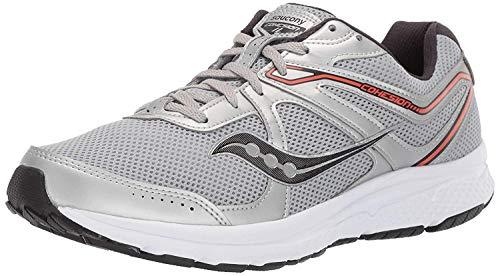 Saucony Men's Cohesion Running Shoe, Silver/Orange, 11 Medium US