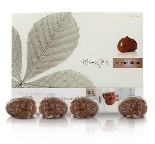 Agrimontana Marrons Glacé en boîte Cadeau avec 16 châtaignes - Édition limitée numérotée (360g)