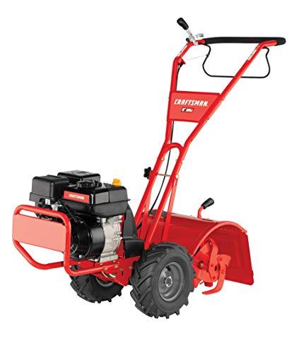 Craftsman CMXGVAM1144037 208cc 16-Inch Gas Powered Rear Counter Rotating Tine Tiller, Liberty Red