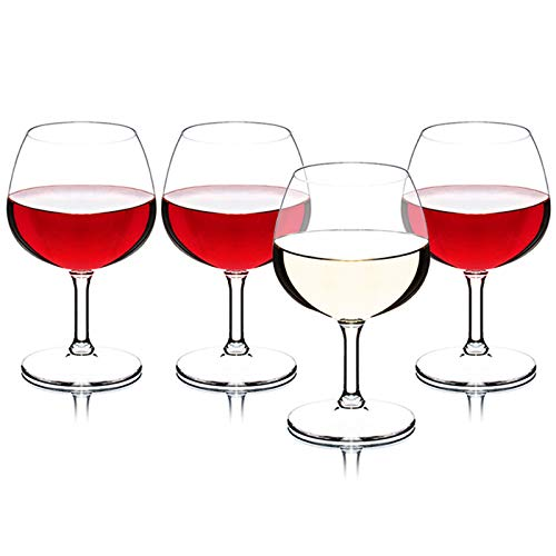 NAXIAOTIAO Copa De Vino Creativa, Conjunto De Copa De Champán, Conjunto De Copa De Vino Tinto Anti-Otoño De 4, Taza De Vino Multifuncional