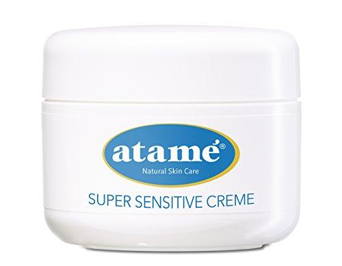 Atame SUPER SENSITIVE CREME 50ml, 24h Gesichtscreme, Hautpflege, Feuchtigkeitscreme fürs Gesicht, Gesichtspflege, sensible Haut, für Männer und Frauen