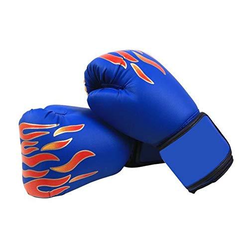 QueenHome Guantes de boxeo para niños, duraderos, para kickboxing, muay thai mits, para deportes de entrenamiento (rojo/azul/negro)