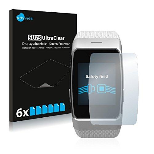 Savvies 6X Schutzfolie kompatibel mit MyKronoz ZeWatch 4 Bildschirmschutz-Folie Ultra-transparent