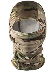 OneTigris Camo Tactische hoofdkap bivakmuts, volgelaatsmasker voor motorfiets/fiets/ski/jacht