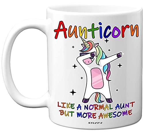Auntie Gifts - Aunticorn Auntie Mug, 11oz Ceramic Unicorn Coffee Mugs/Cup...