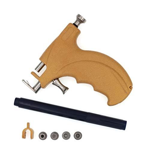 TENDYCOCO Piercing Maschine set mit Waffenkoffer Professionelle Piercing Maschine mit 4 Größenköpfen für Ohr Körper Nase Lippen