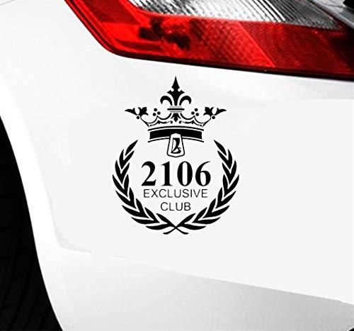 Pink Auto Aufkleber 18.8x15Cm lustige Auto Aufkleber 2106 exklusives Verein-Auto für Auto-Laptop-Fenster-Aufkleber