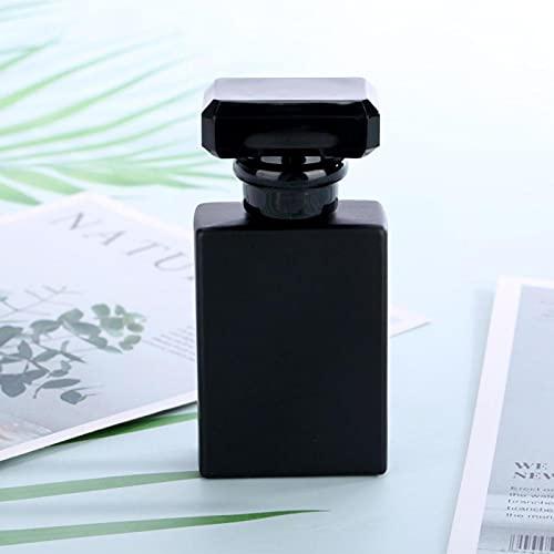 Contenedor de olores de botella de perfume vacío conveniente para contener cosméticos para contener perfumes(negro)
