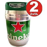 2x 5l Barril con grifo (de Heineken draught Keg 5%