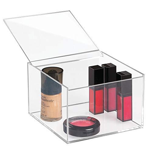 iDesign Kosmetik Organizer mit Deckel (15,2 x 15,2 x 10,2 cm) mittelgroßer Schminkorganiser aus...
