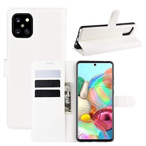 CoverKingz Handyhülle für Samsung Galaxy Note10 Lite [6,7 Zoll] - Handytasche mit Kartenfach Note10 Lite Cover - Handy Hülle klappbar Weiß
