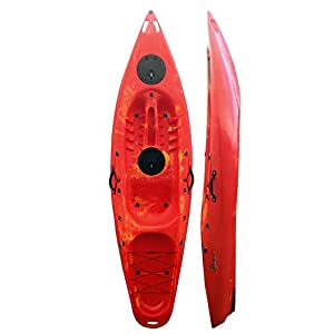 Riber Sit On One Seat 1 Person Kayak Canoe - 286 / 9.4ft Long - 2x Lockable Storage Hatches - Easy to manoeuvre and ride - Various Colours Available - Model 1005