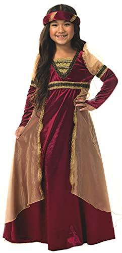 Charades Renaissance Girl Children's Costume, Wine, Medium