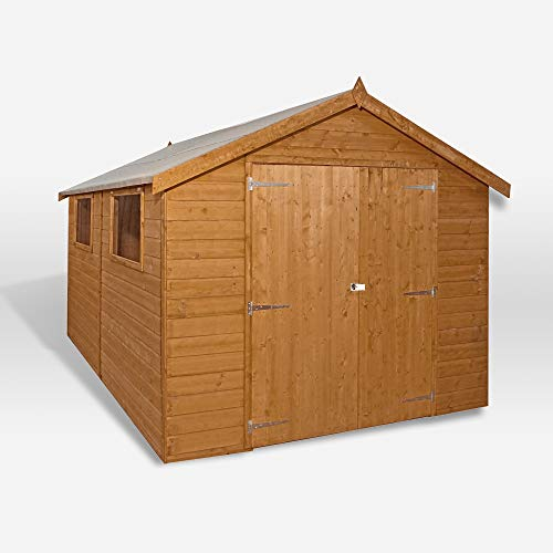 WALTONS EST. 1878 Wooden Garden Shed 12x8 Outdoor Storage Building, Pressure Treated Shiplap, Apex Roof 12ft 8ft