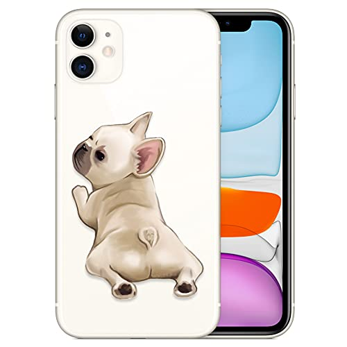 French Bulldog Phone Case Compatible with iPhone 11,Soft TPU Silicone Slim Transparent Protective Case for iPhone 11,Gift for Women Girls