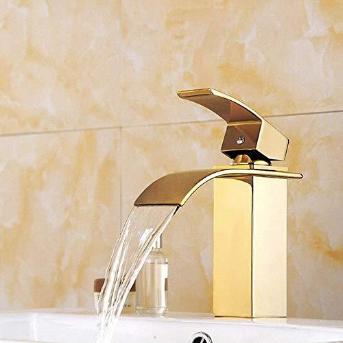 QTWW Splendida Cascata Bagno lavabo Mono Blocco Ottone Massiccio Rubinetto Miscelatore Caldo Freddo Guardaroba lavabo lavabo Miscelatore Rubinetto Cromato Bagno Moderno