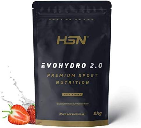 HSN Proteína Hidrolizada de Suero Evohydro 2.0   Hydro Whey   A Partir de Whey Protein Isolate   Rica en BCAAs y Glutamina   Proteína Vegetariana, Sin ...