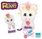 Rescue Runts - Peluche de Unicornio para Adoptar, Color Blanco, 3 años en adelante
