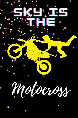 Sky is The Motocross: Notebook cover for Motocross fans ,spo